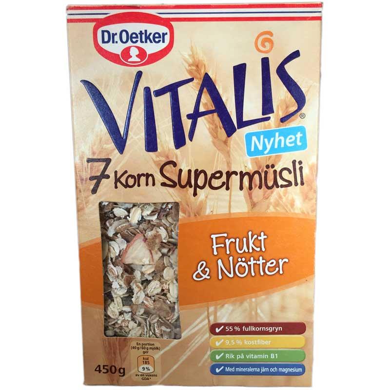 Supermüsli Frukt & nötter - 71% rabatt