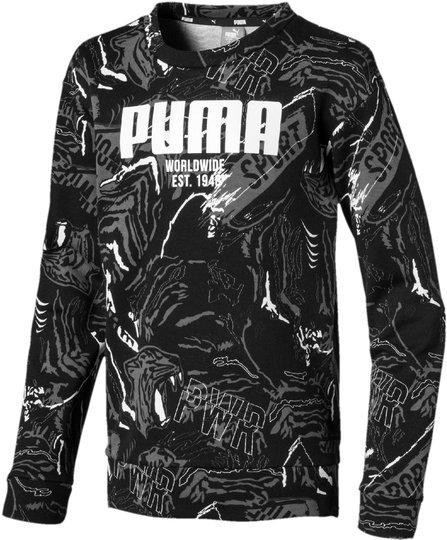 Puma Alpha Aop Crew Genser, Black 92
