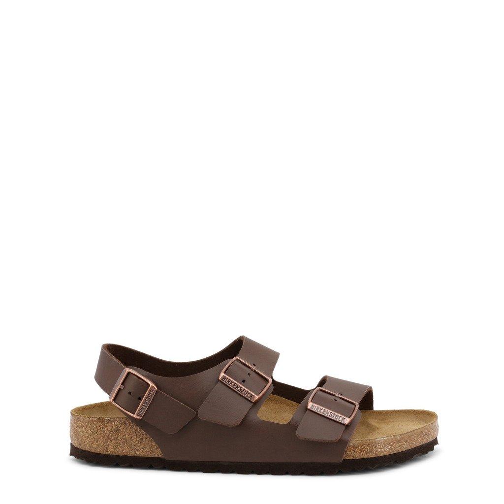 Birkenstock Unisex Flip Flops Brown Milano_34701 - brown EU 40