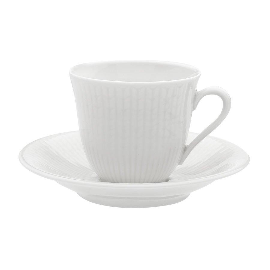 Rörstrand Swedish Grace Snø/Hvit Underskål Kaffe