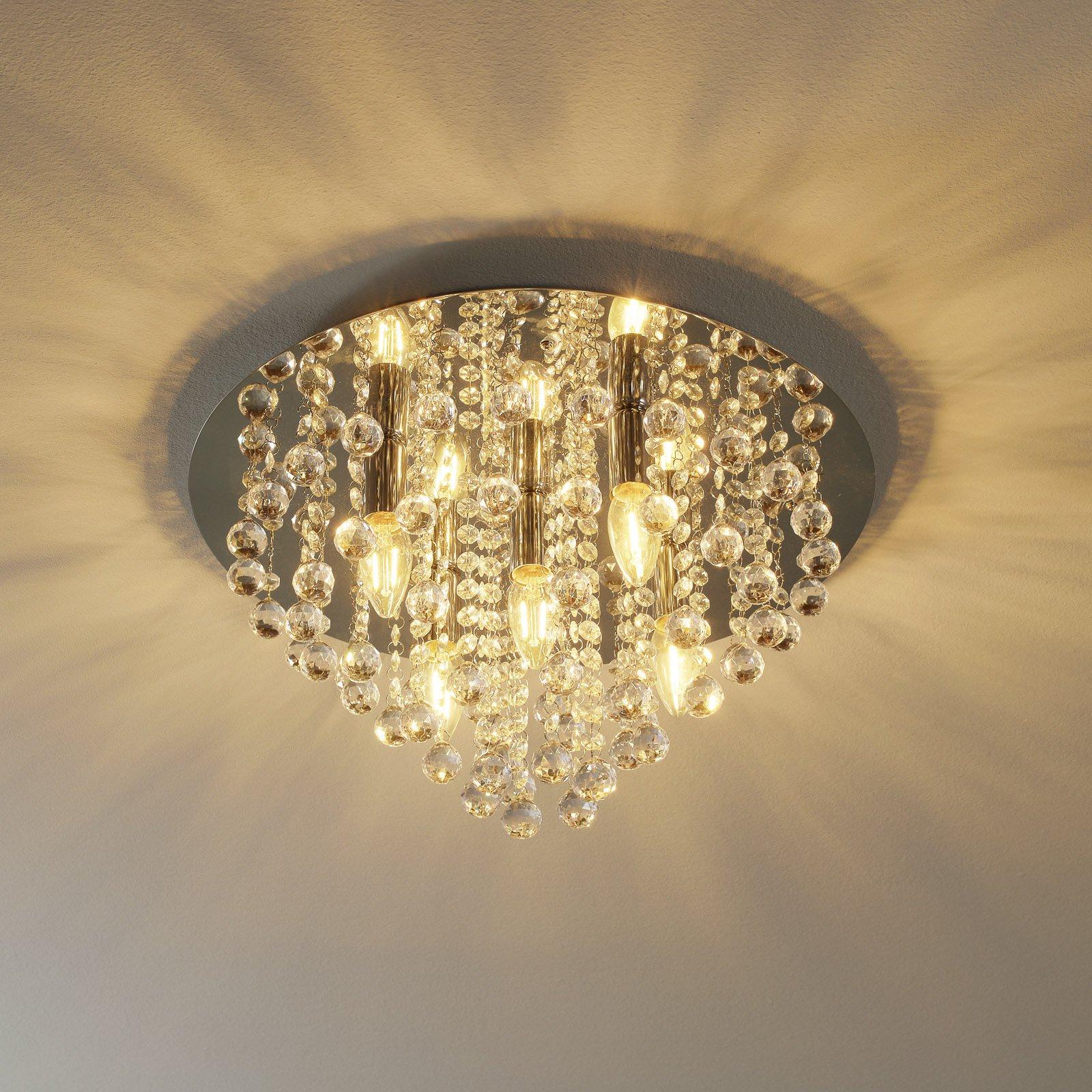 Skinnende Londen taklampe med fem lys