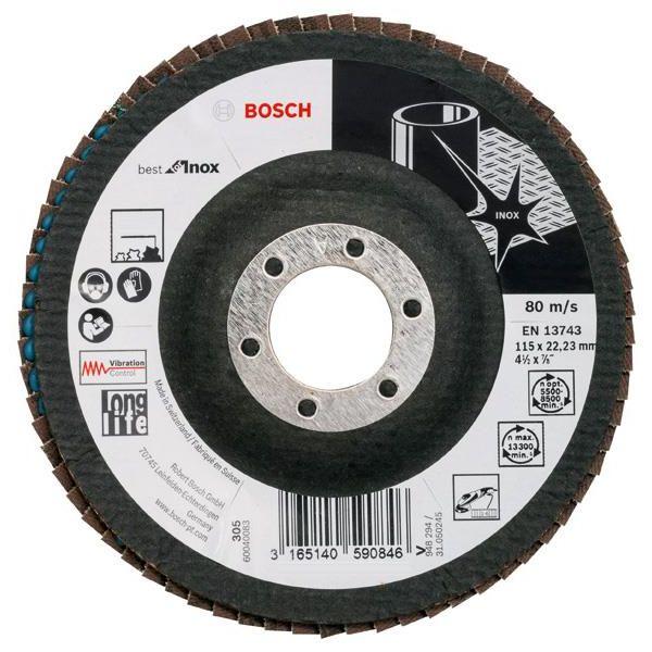 Bosch Best for Inox Lamellslipeskive 115x22,23 mm K40
