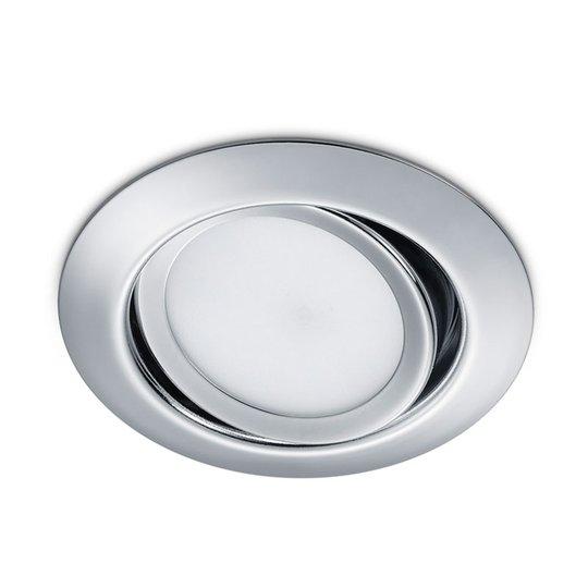Pyöreä, upotettava LED-kohdevalaisin Rila kromia