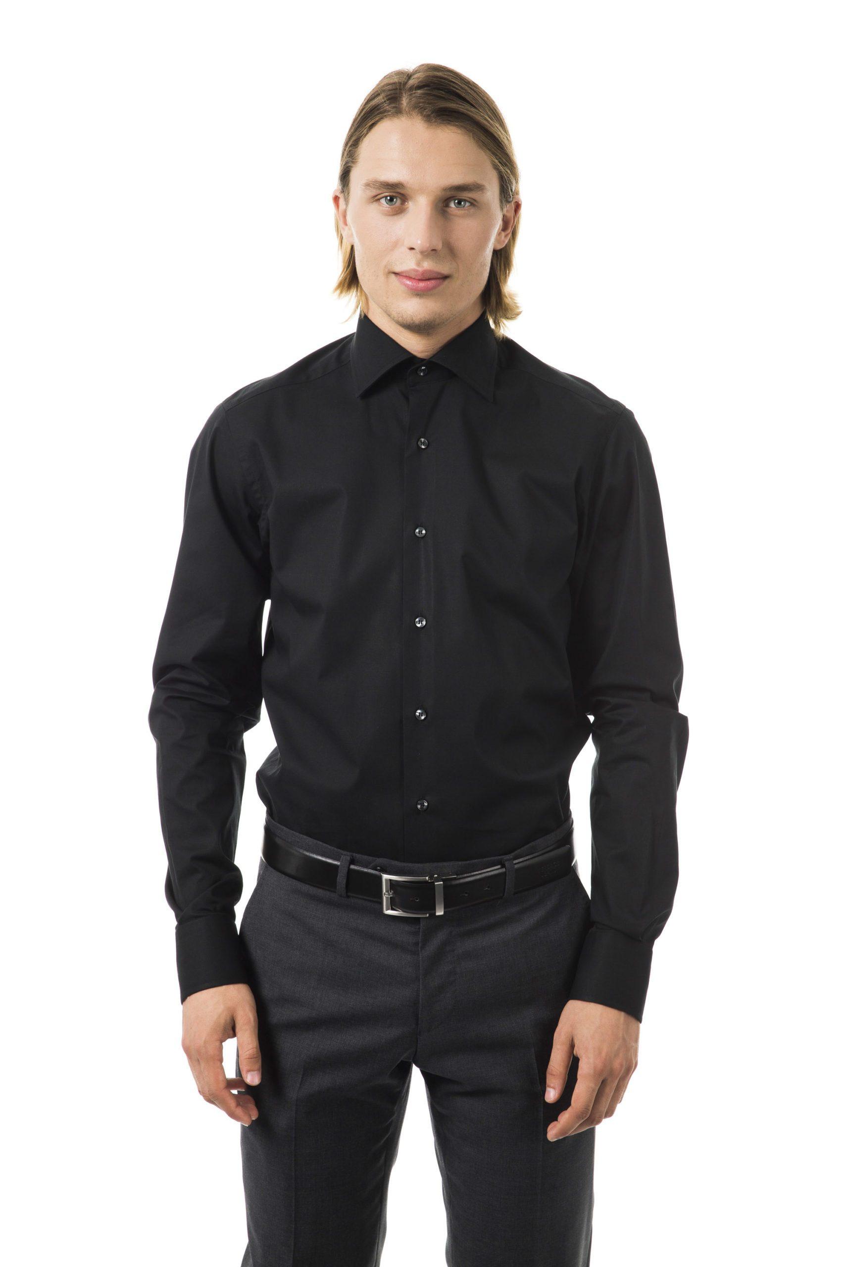 Uominitaliani Men's Nero Shirt Black UO1394646 - M