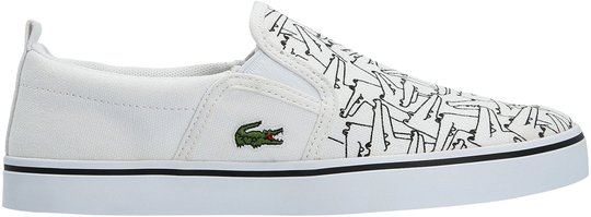 Lacoste Gazon 318 Sneaker, White/Black 35