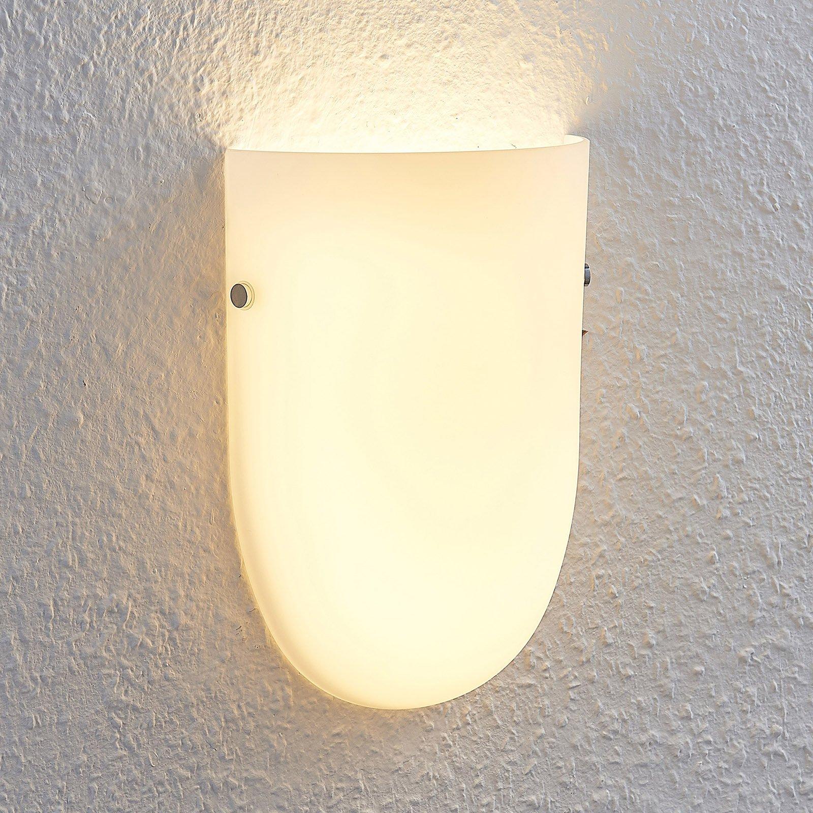 LED-vegglampe Genele med glasskjerm