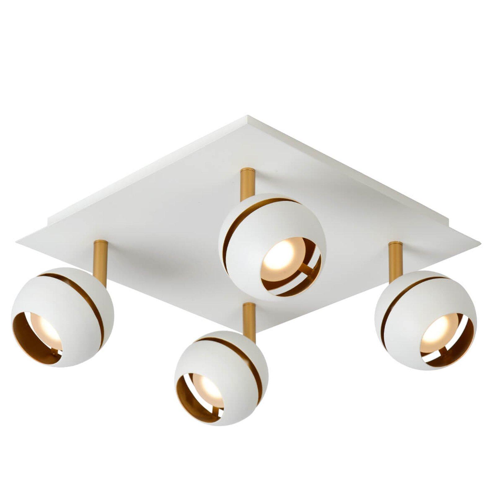 Binari LED-taklampe, 4 lyskilder, hvit