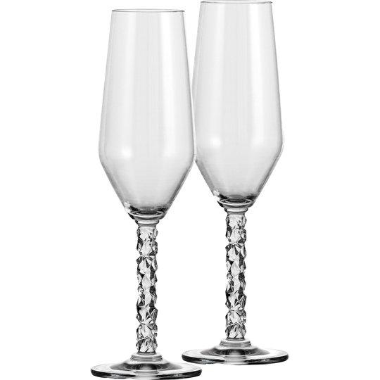 Orrefors Carat Champagneglas 2 st