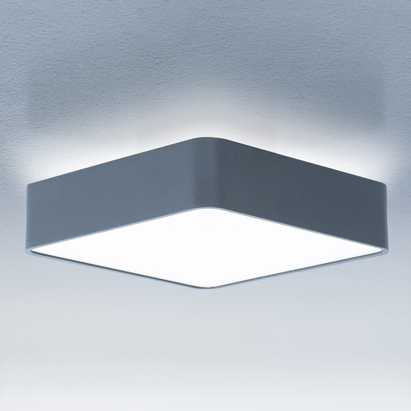 Caleo-X2 kvadr. taklampe LED univer.hvit 43 cm