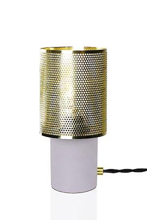 Bordlampe Rumble Betong / Børstet Messing