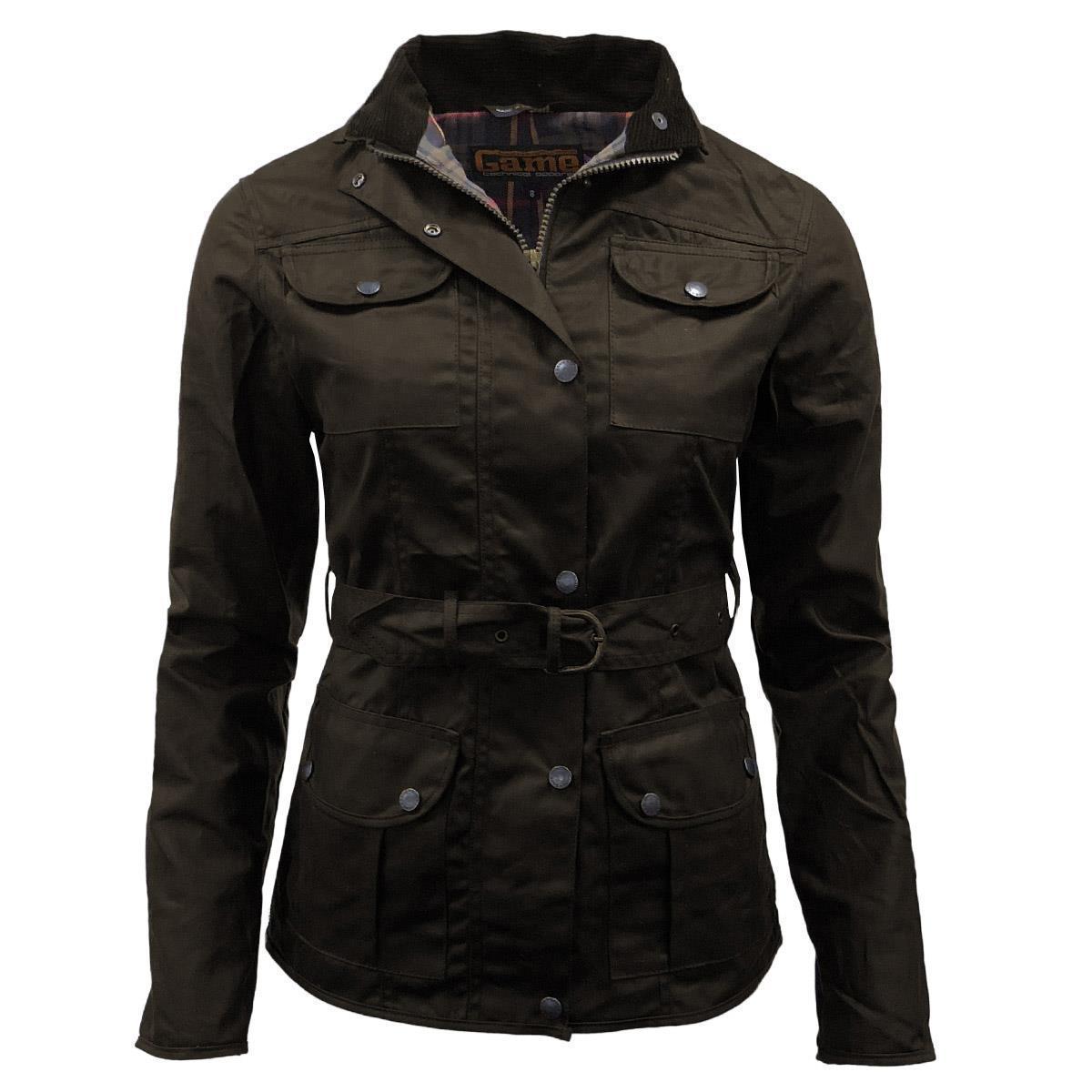 Game Technical Apparel Women's Jacket Morgan Wax - Brown 10