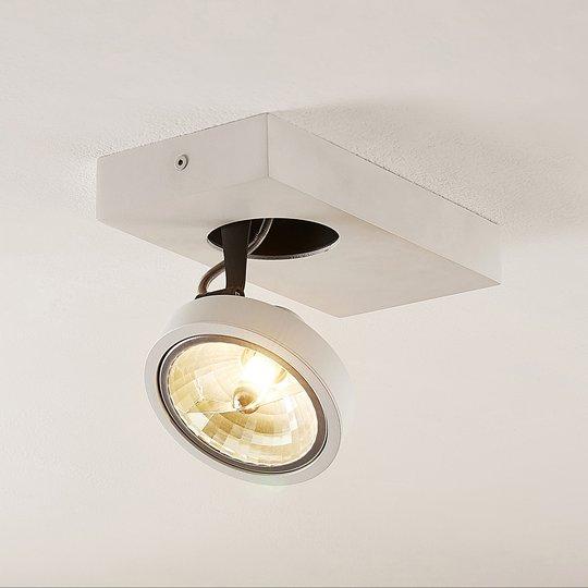 Arcchio Jorvin -kattospotti, 1-lamp., valkoinen