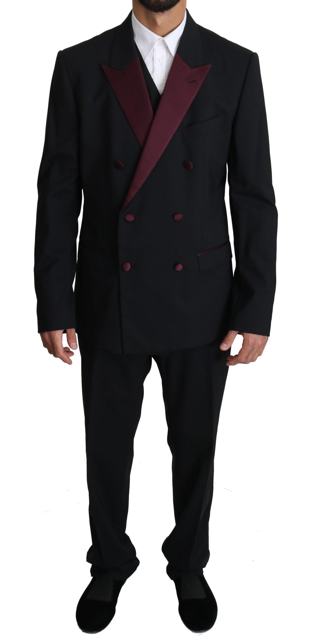 Dolce & Gabbana Men's Slim Fit 3 Piece MARTINI Suit Beige KOS1523 - IT50 | L