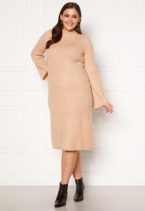 Happy Holly Winnie sweater dress Beige melange 52/54