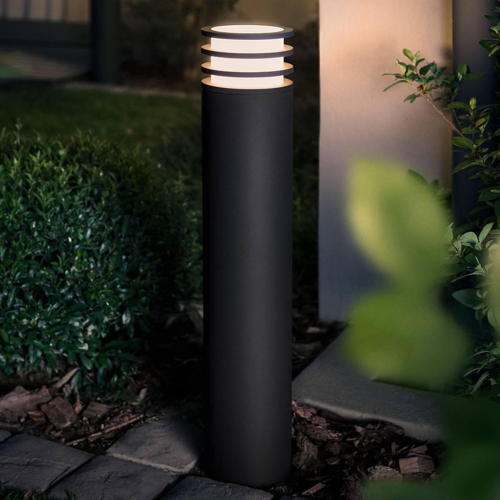 Philips Hue -LED-pollarivalaisin Lucca antrasiitti