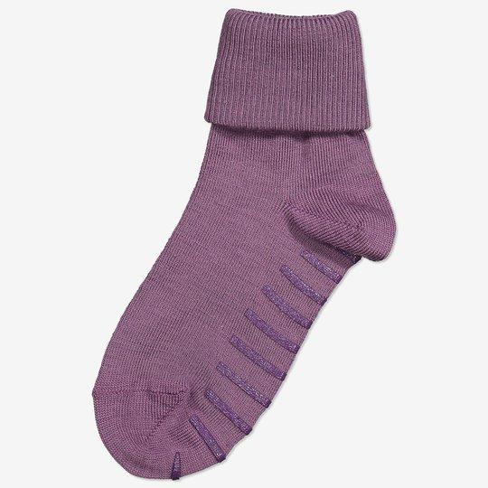 Merinoull sokker med sklisikring lilla