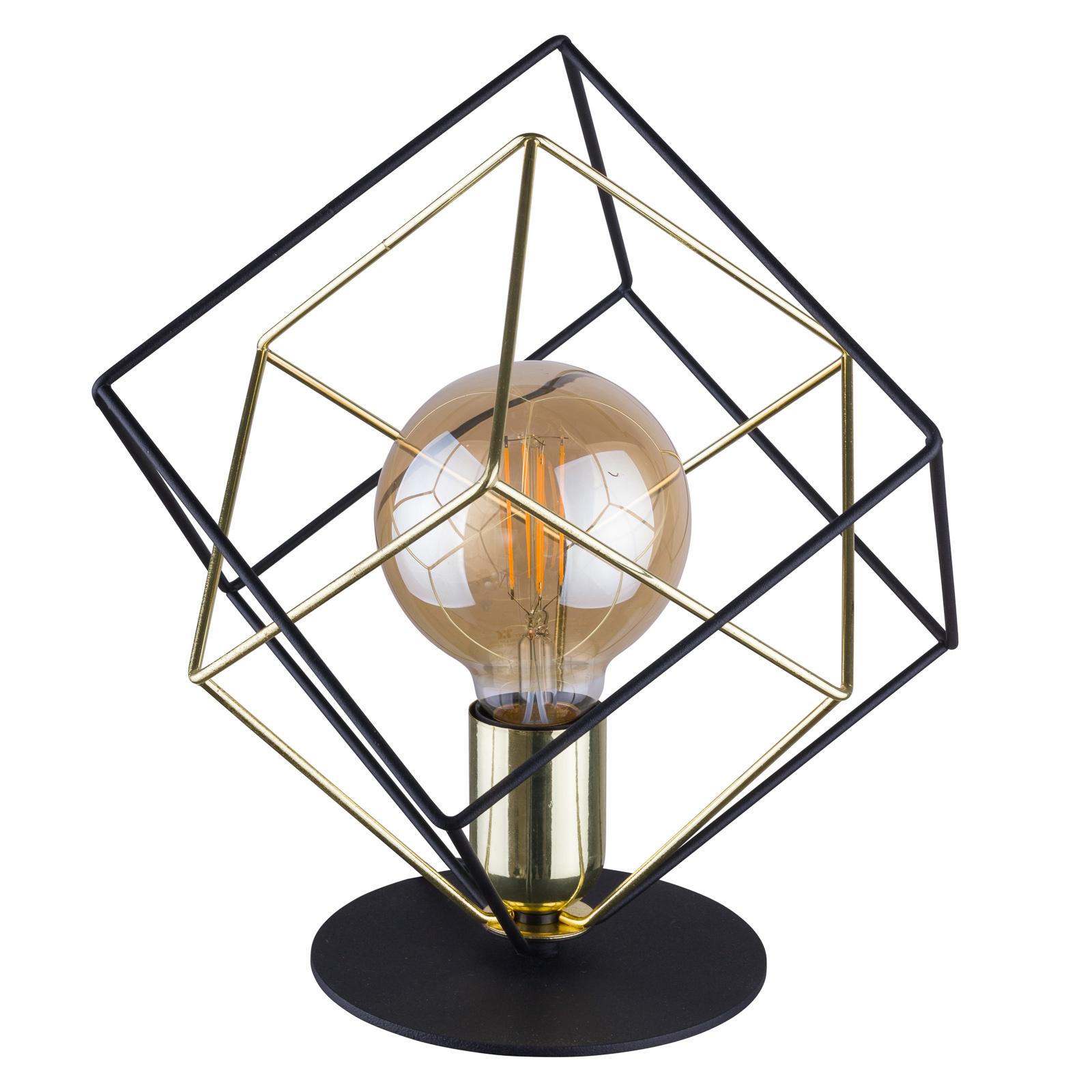 Pöytävalaisin Alambre 1-lamppuinen, kulta/musta