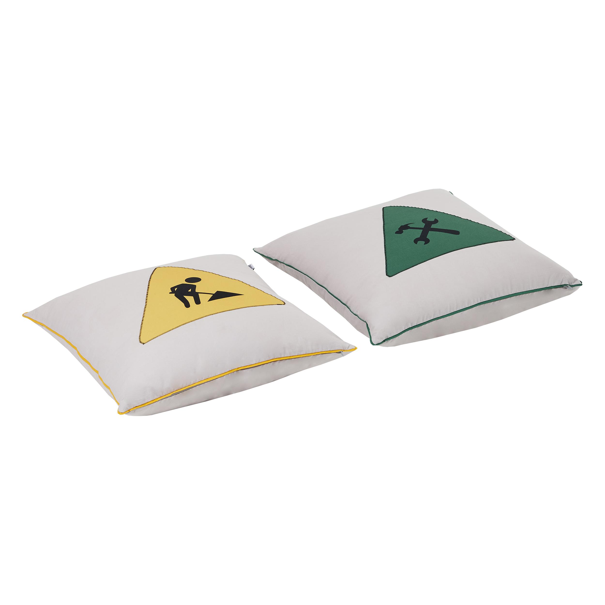 Hoppekids - Pillow Set w. 2 Pillows - Construction