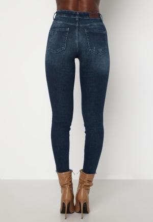 ONLY Blush Life Mid Ank Raw Jeans Dark Blue Denim L/30
