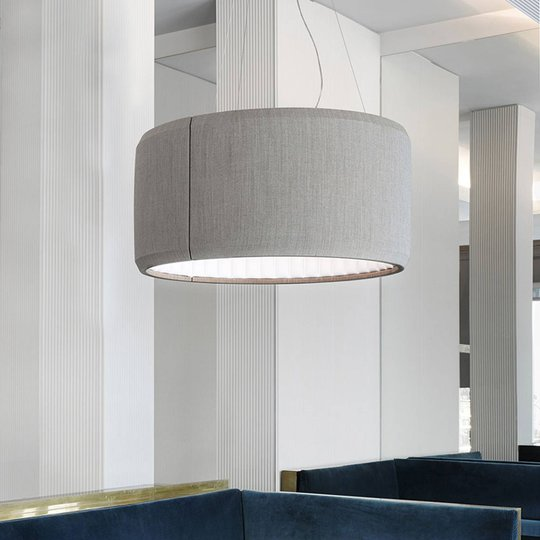 Luceplan Silenzio LED-riippuvalaisin harmaa Ø 90cm