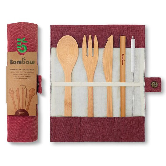 Bambaw Bestickset Bambu, 5 delar