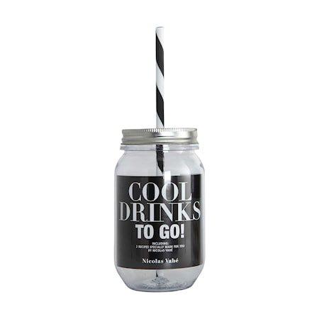 COOL DRINKS Vannflaske med sugerør 55cl