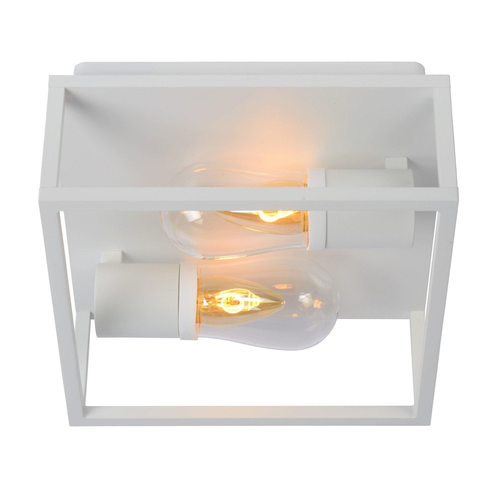Taklampe Carlyn baderom 2 lyskilder hvit