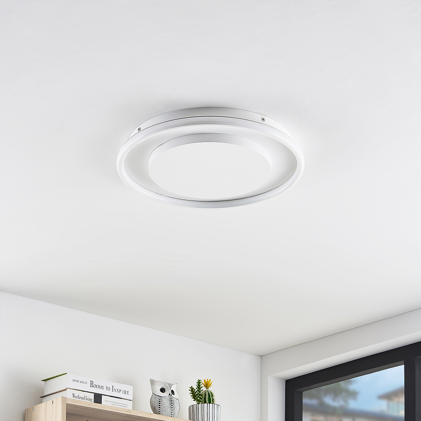 Lucande Murna -LED-kattovalaisin, Ø 46 cm