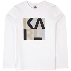 Karl Lagerfeld Kids Logo Tröja Vit 4 år
