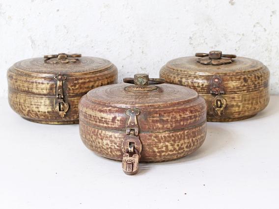 Vintage Brass Chapati Bowl Medium