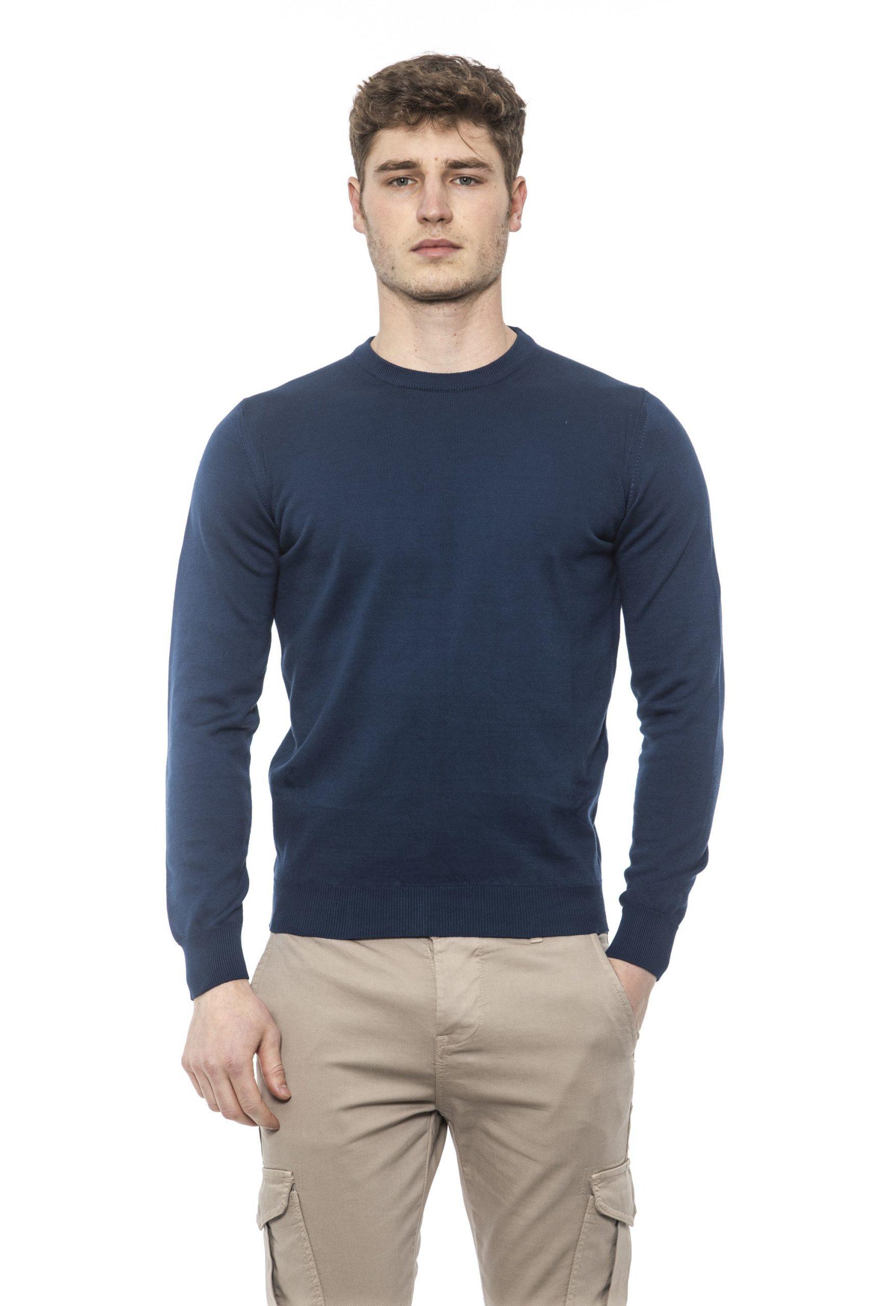 Alpha Studio Men's Blunotte Sweater Blue AL1374631 - IT48 | M