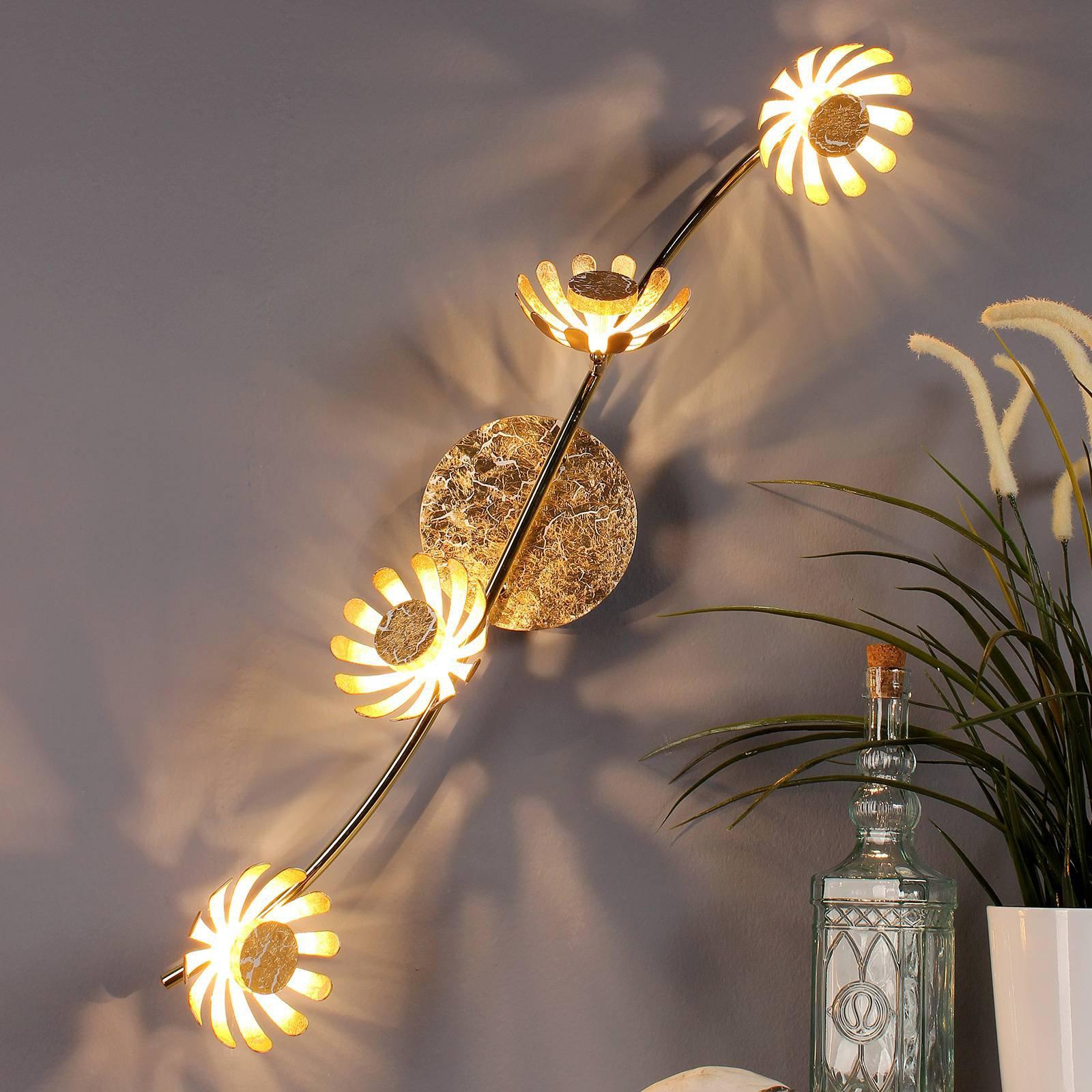 LED-taklampe Bloom 4 lyskilder gull