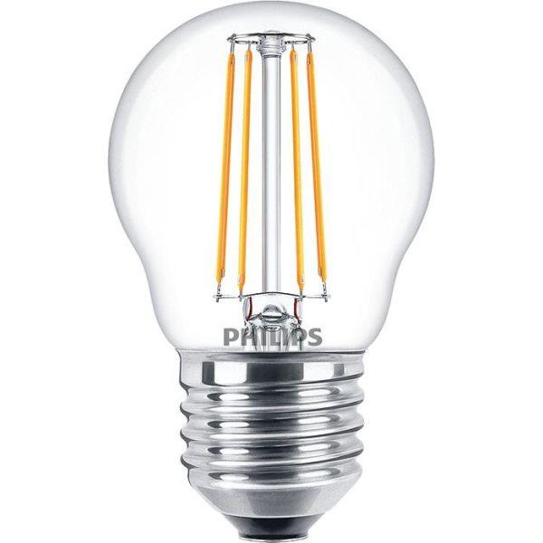 Philips 929001890502 LED-lampe kule, 4 W, E27