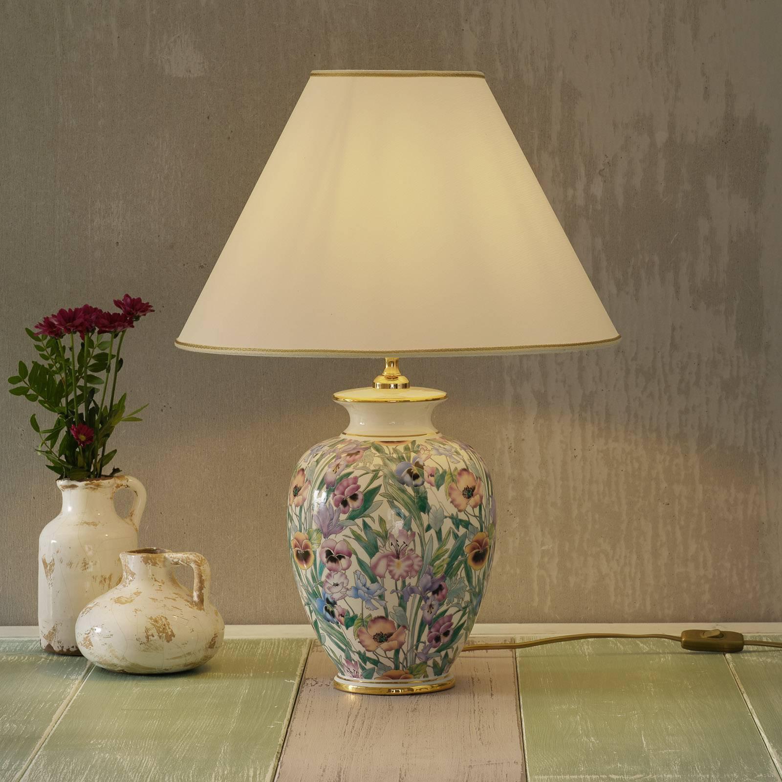 KOLARZ Giardino Panse - floral bordlampe 40 cm