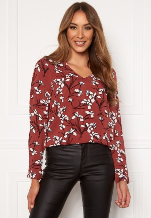Happy Holly Adele blouse Cinnamon / Patterned 52/54