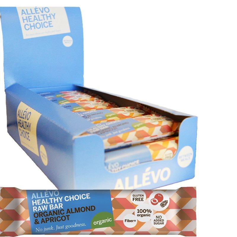 "Hel Låda Snack Bar ""Almond & Apricot"" 24 x 40g - 72% rabatt"