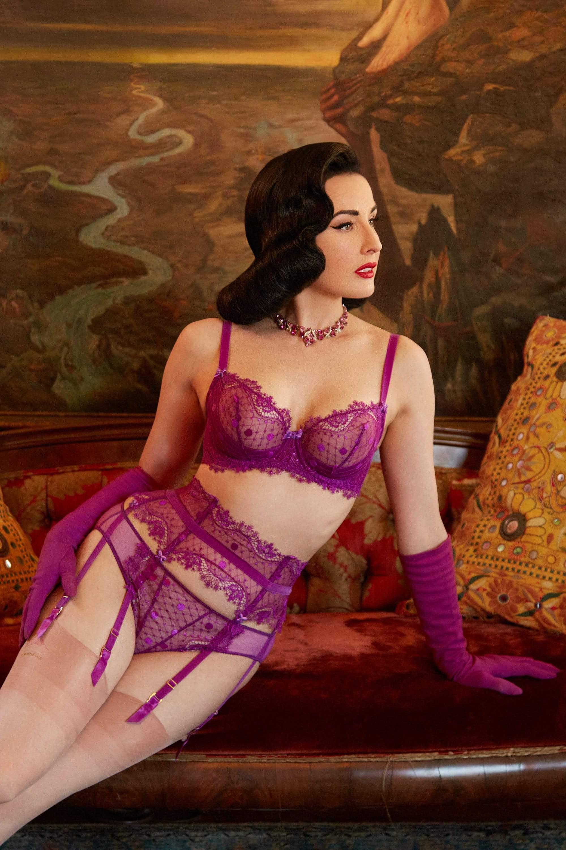 Dita Von Teese Vedette Shocking Violet Bra 36E