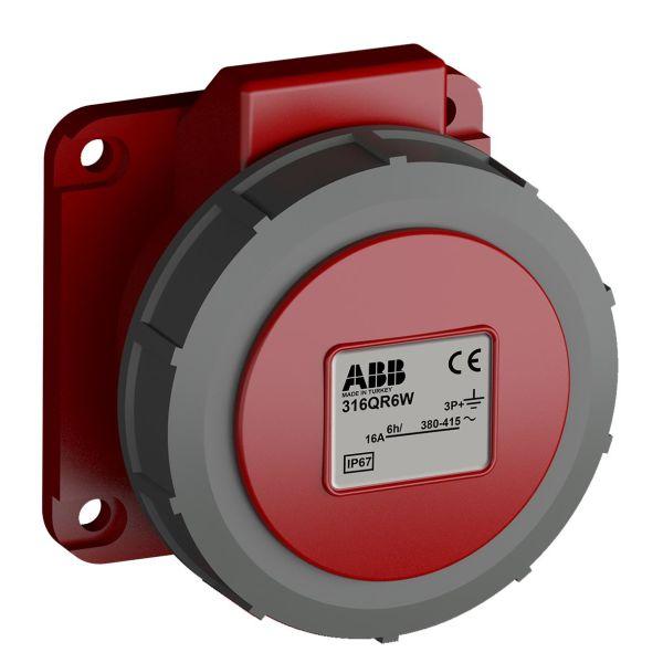 ABB 2CMA102317R1000 Paneluttak hurtigtilkoblet, vibrasjonsbestandig Rett, 4-polet, 16 A