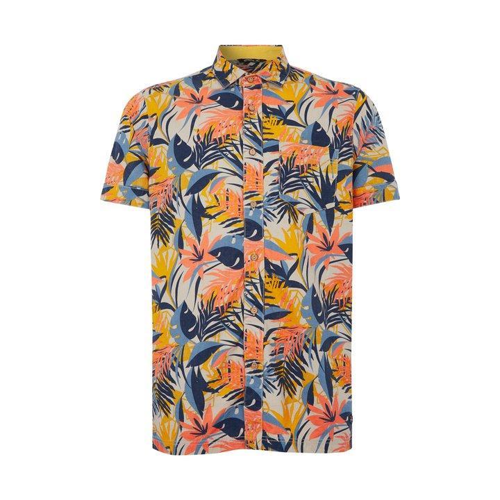 O'Neill Men's LM Wailuku SS Shirt Various Colours 8719403608394 - XL Brown AOP with Blue