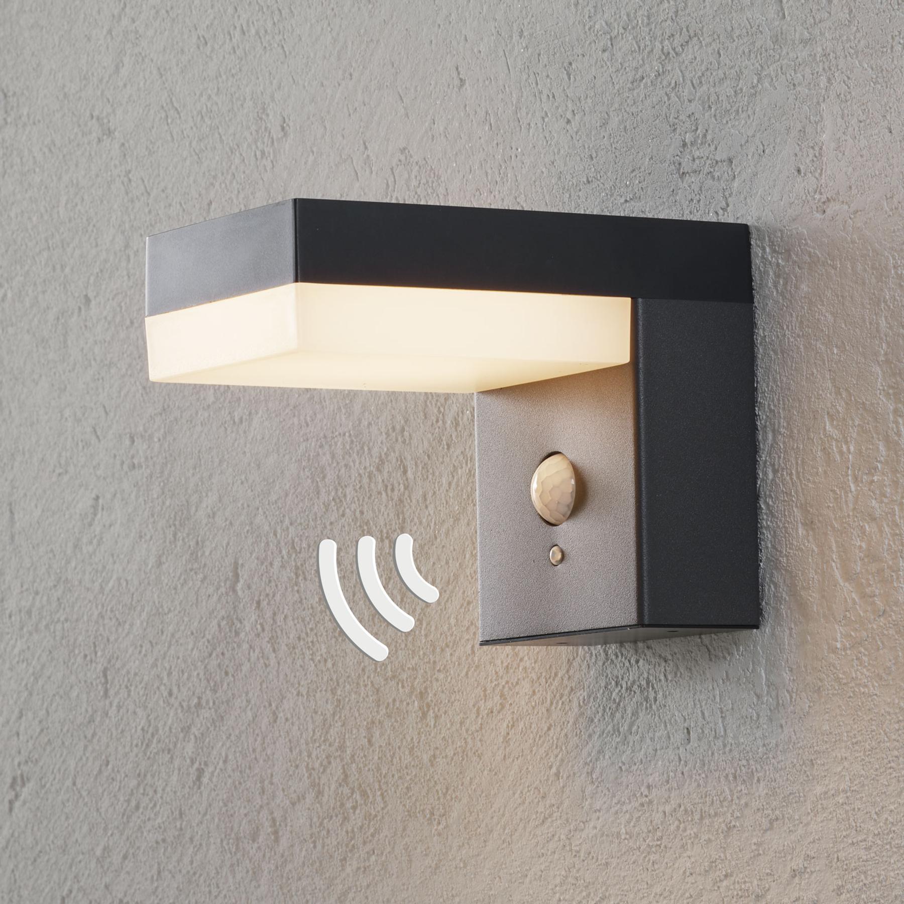 Aurinkokäyttöinen LED-seinävalaisin Chioma sensori
