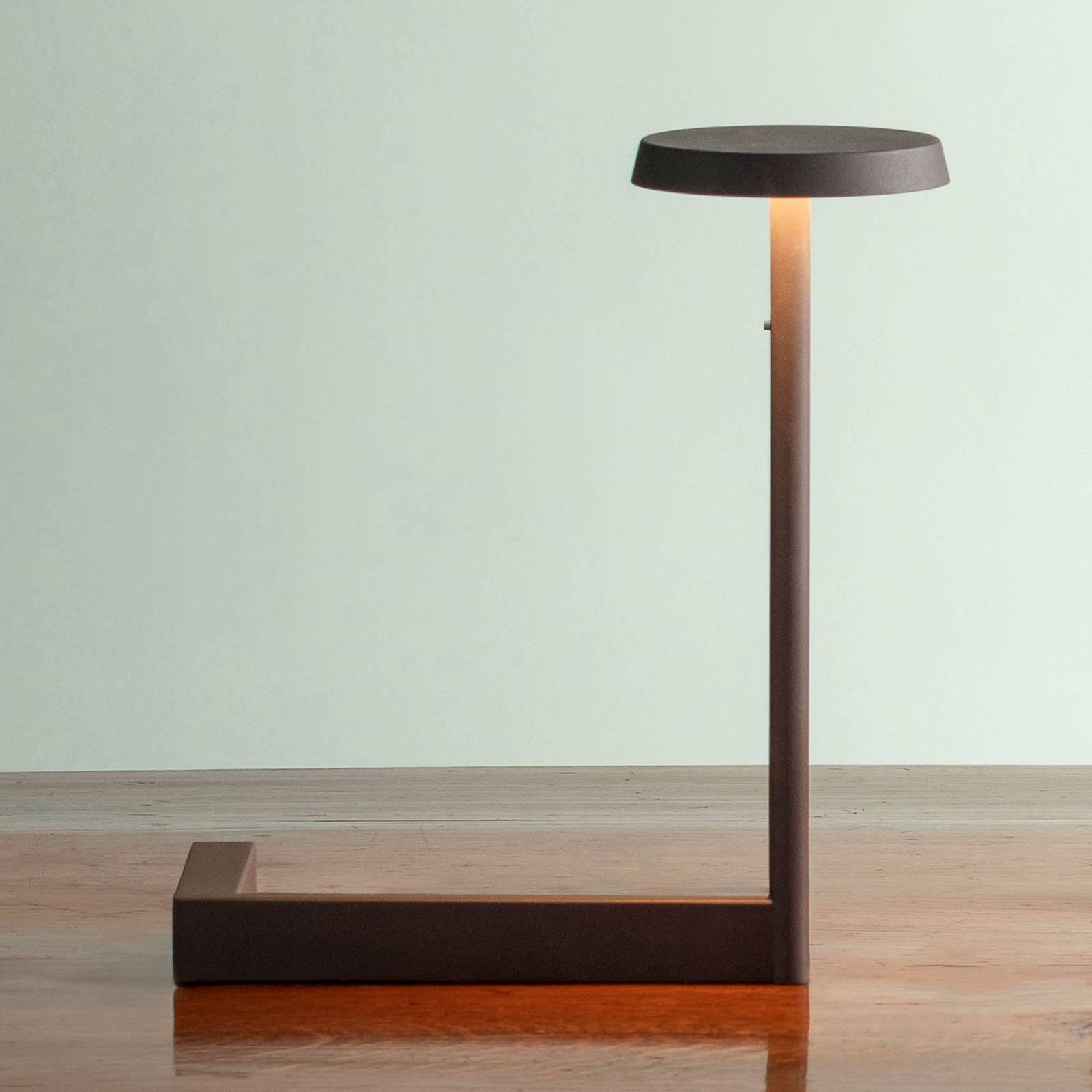 Vibia Flat -LED-pöytälamppu, 30 cm, musta