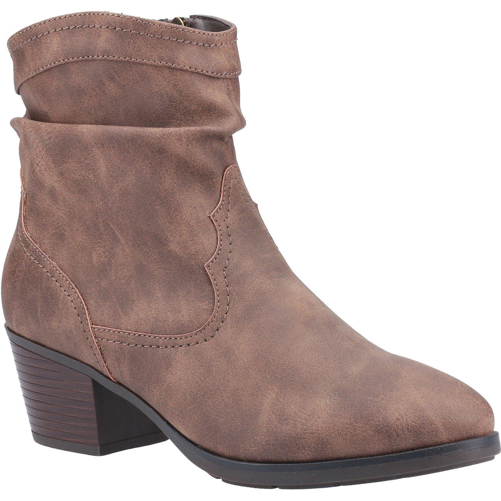 Divaz Women's Adele Ankle Boot Various Colours 33028 - Tan 3