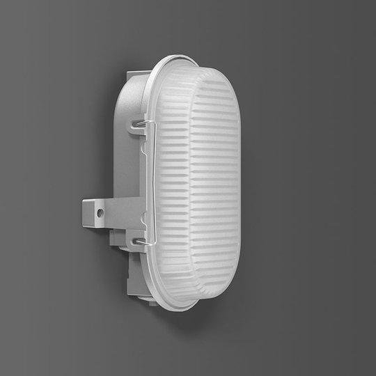 RZB Alu-Standard LED-vegglampe, oval, IP66