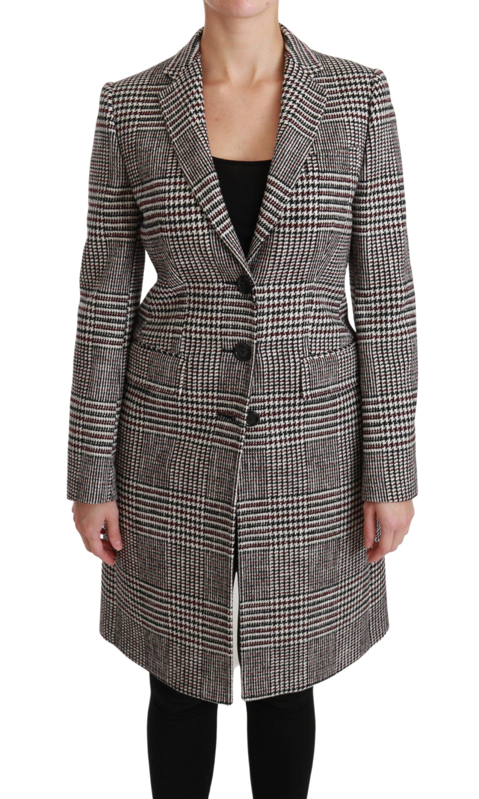 Dolce & Gabbana Women's Trench Knee Long Jacket Coat Multicolor JKT2520 - IT40 S