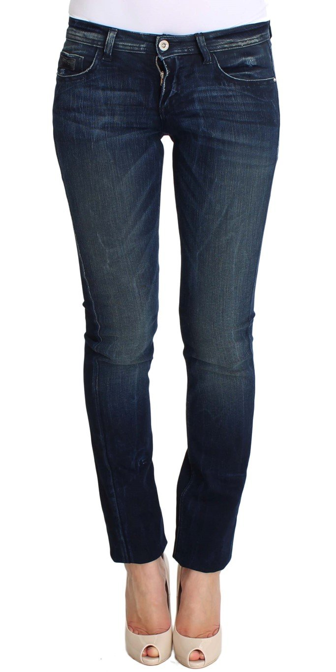 Costume National Women's Wash Cotton Slim Fit Skinny Jeans Blue SIG30217 - W26