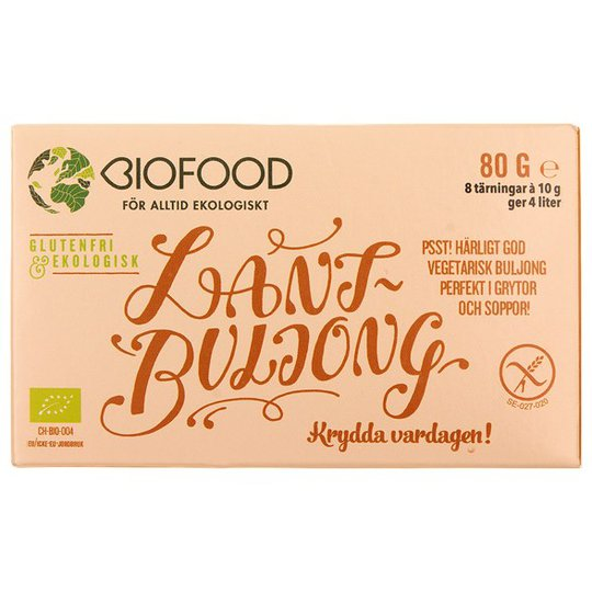 Biofood Ekologisk Lantbuljong Tärning, 8 st