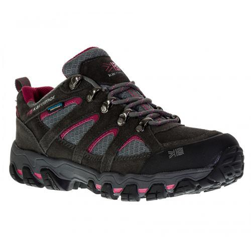 Karrimor Women's Weathertite Low Rise Waterproof Hiking Boot Multicolor Bodmin Low 5 - Dark Grey / Cochineal UK-4