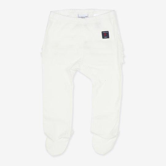 Bukse hvit nyfødt hvit