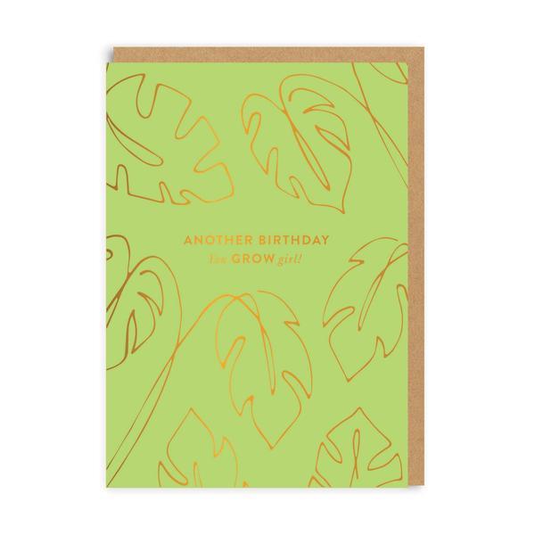 You Grow Girl Birthday Greeting Card
