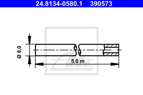 Jarruputki ATE 24.8134-0580.1